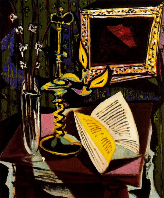 Pablo Picasso. Still life with a candlestick