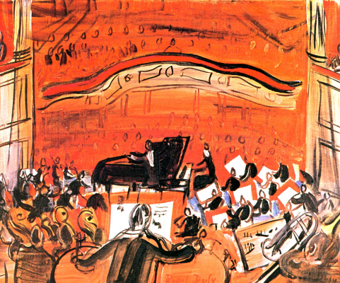Raoul Dufy. Red concert