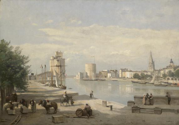 Камиль Коро. Вход в порт Ла-Рошель