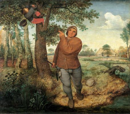 Pieter Bruegel The Elder. The Peasant and the Nest Robber (The Peasant and the Bird Nester)