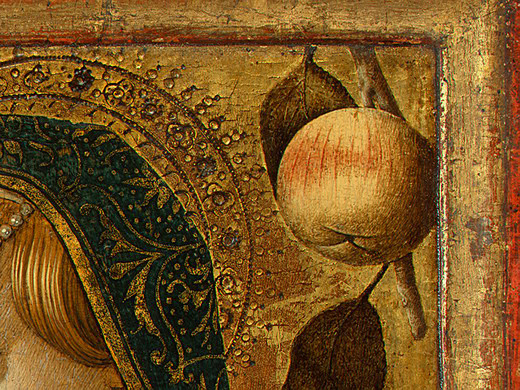 Carlo Crivelli. The Madonna and child. Fragment