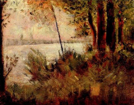Georges Seurat. Overgrown slope