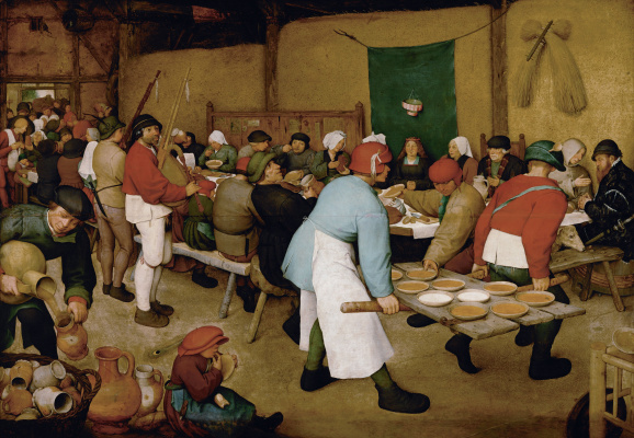Pieter Bruegel The Elder. Peasant wedding