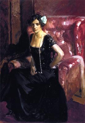 Хоакин Соролья (Соройя). Клотильда в вечернем платье