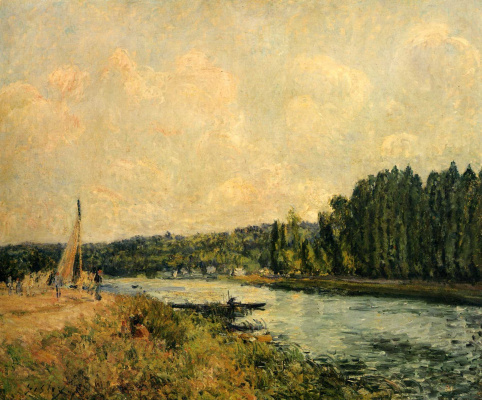 Alfred Sisley. Banks Of The Oise