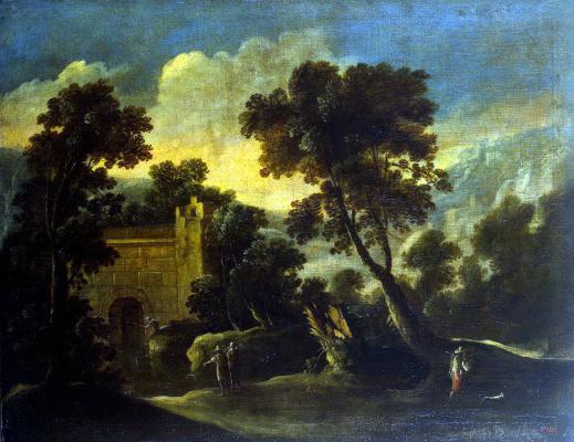 Франсиско Кольянтес. Пейзаж с руинами