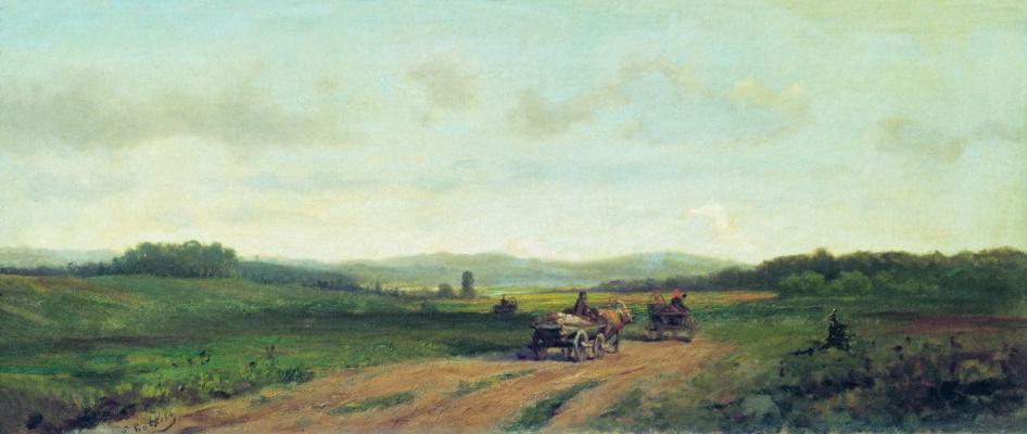 Ефим Ефимович Волков. Холмистый пейзаж с дорогой