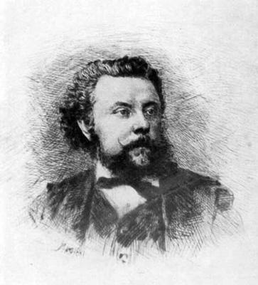 Василий Васильевич Матэ. Портрет М.П.Мусоргского.1881Офорт.