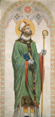 Жан Огюст Доминик Энгр. Святой Роберт, епископ Вормский