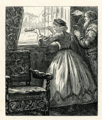 Джон Эверетт Милле. У окна. Иллюстрация к рассказу Харриет Мартино