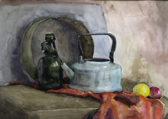 Ilya Igorevich Statsura. Still life with a kettle