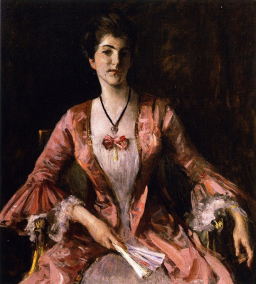 William Merritt Chase. Miss Dorothy chase in a pink dress