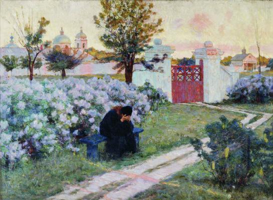 Kiriak Konstantinovich Kostandi. Blooming lilacs