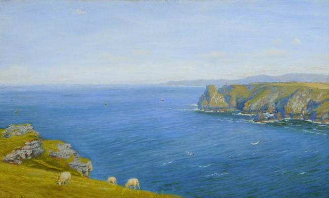 Arthur Hughes. Gulf Coast on the North Cornwall Coast