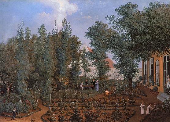 Семьи Вилбов в саду
