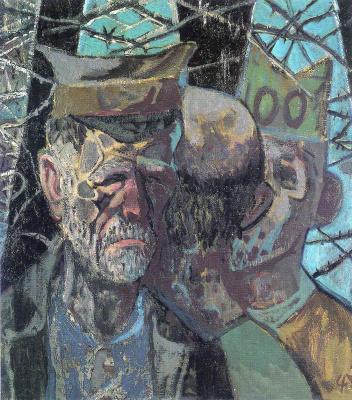 Otto Dix. Self-portrait as a prisoner of war