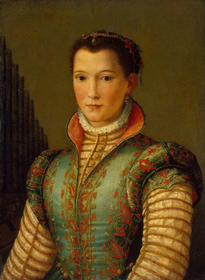Alessandro Allori. Portrait Of Eleonora Of Toledo