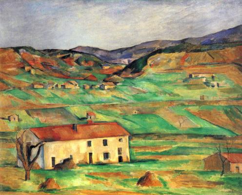 Paul Cezanne. Neighborhood Gardanne