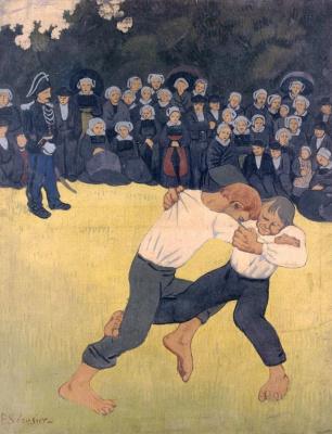 Paul Sérusier. The struggle of the Bretons