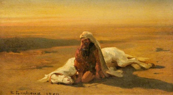 Роза Бонёр. Араб и мертвая лошадь