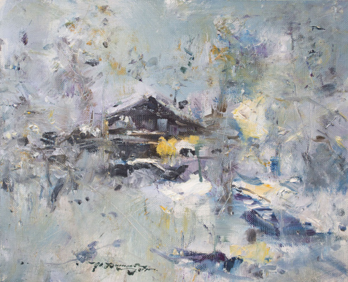 "Ivan Stepanovich Danilov. ""Snowy cottage"""