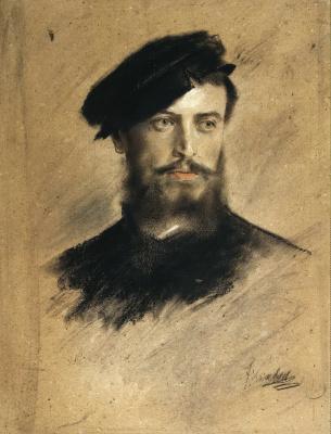 Франц фон Ленбах. Мужской портрет