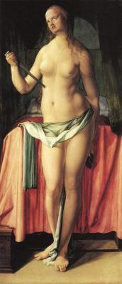 Albrecht Durer. The Suicide Of Lucrezia