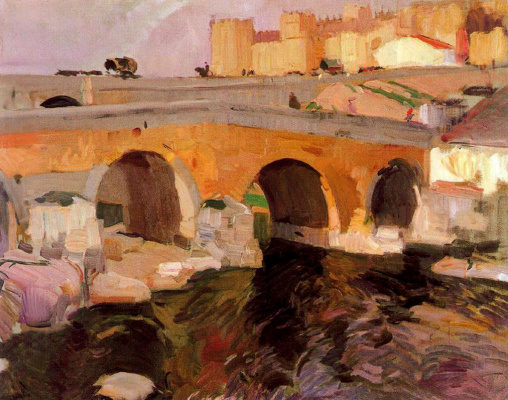 Joaquin Sorolla (Soroya). The old bridge Avila
