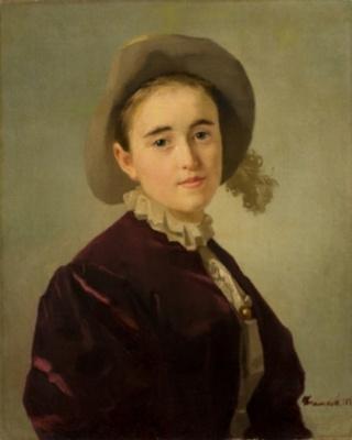 Иван Николаевич Крамской. Портрет девочки в фетровой шляпе