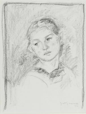 Giovanni Giacometti. The Portrait Of Ottilie