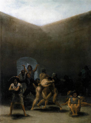 Francisco Goya. Yard of a madhouse
