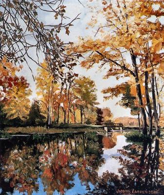Жак Лаурендо. Осенний пейзаж