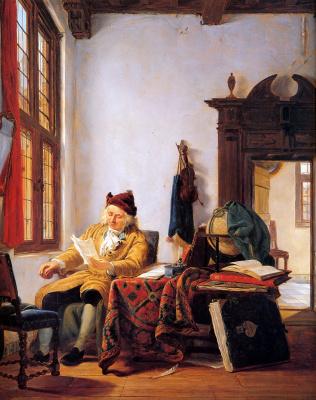 Абрахам ван Стрий. Торговец за столом у окна