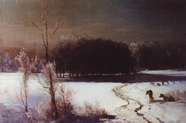 Alexey The Kondratyevich Savrasov. Landscape with wolves