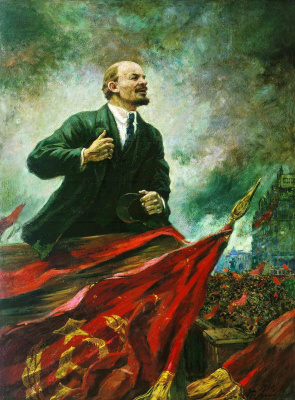 Alexander Mikhailovich Gerasimov. Lenin on the podium. 1930