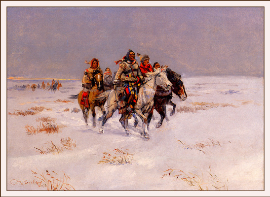 Charles Marion Russell. Snow trail