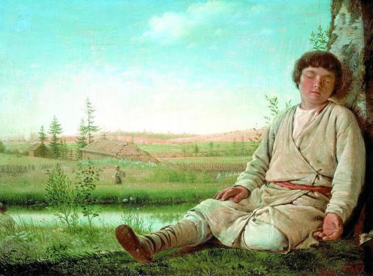 Alexey Gavrilovich Venetsianov. Sleeping shepherd boy