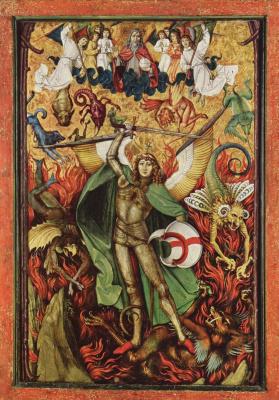 Ханс Лей-старший. Низвержение в ад, Битва архангела Михаила с Люцифером