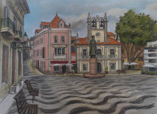 Irina Soboleva. The main square Cascais