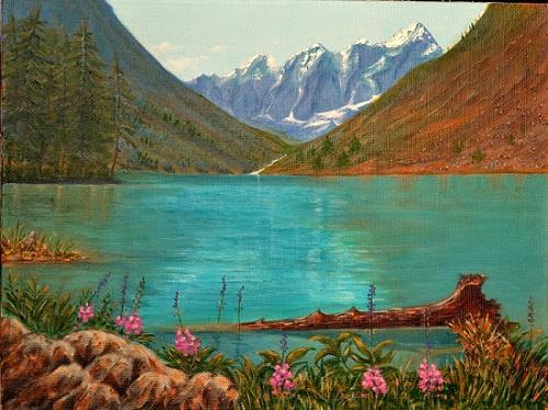 Irina Nekrasov. Mountain lake