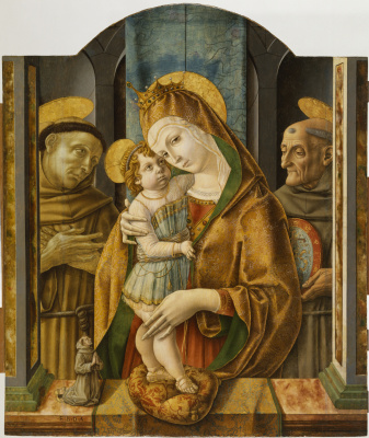 Карло Кривелли. Мадонна и младенец со святыми и донатором