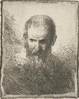 Jan Livens. Bust of an elderly man
