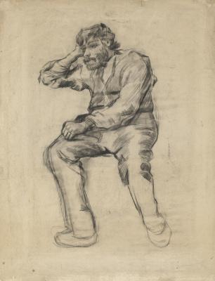 Винсент Ван Гог. Сидящий мужчина с усами