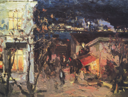 Konstantin Korovin. Yalta at night