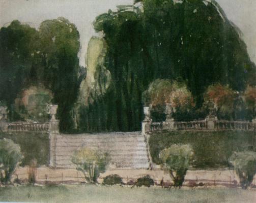 Александр Васильевич Шевченко. Уголок Версальского парка. 1906