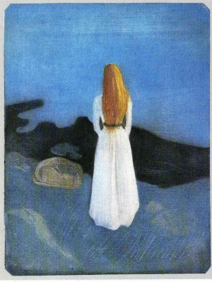 Edvard Munch. The girl on the beach