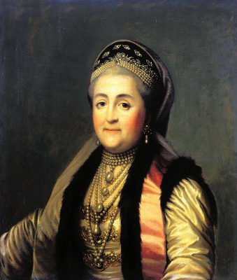 Vigilius Eriksen. Portrait of Catherine II in sugae and headdress