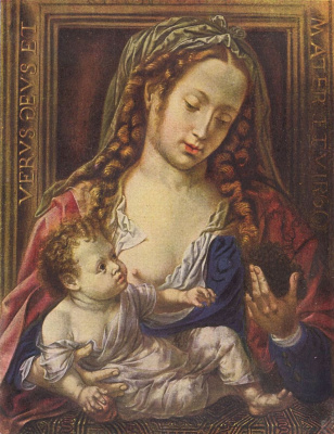Ян Госсарт. Мария с младенцем