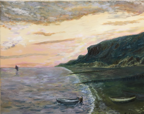 Mihails (Mikhail) Valentinovich Ribenko (Rybenko). Evening on the coast