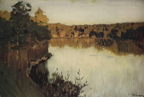 Isaac Levitan. Forest lake